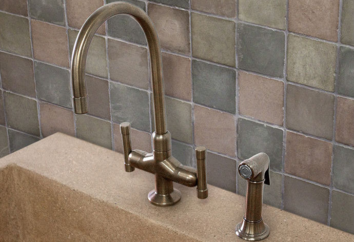 Picture of Sonoma Forge | Kitchen Faucet | Cuvee with Side Spray | Deck Mount