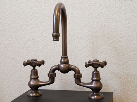 Sonoma Forge   Bar or Prep Faucet   Brownstone   Deck Mount
