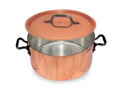 French Copper Studio Copper Stock Pot