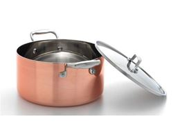 Picture of French Copper Studio Tri-Ply Copper Stock Pot