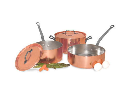 Picture of French Copper Studio Smart Chef 5 pc Copper Cookware Set
