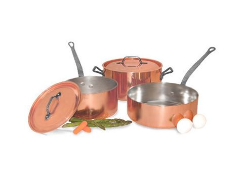 French Copper Studio Smart Chef 5 pc Copper Cookware Set