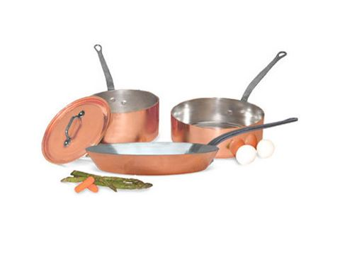 French Copper Studio 5 pc Copper Cookware Set