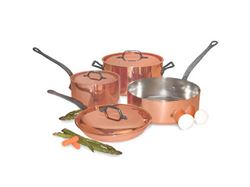 French Copper Studio Smart Chef 7 pc Copper Cookware Set