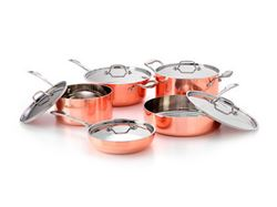 Picture of French Copper Studio Tri-Ply Copper Cookware Set 10 pc