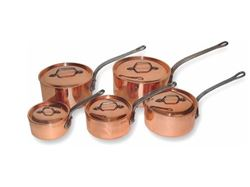 Picture of French Copper Studio Copper Sauce Pan Set - 5 pc