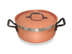 Picture of French Copper Studio Short Copper Casserole