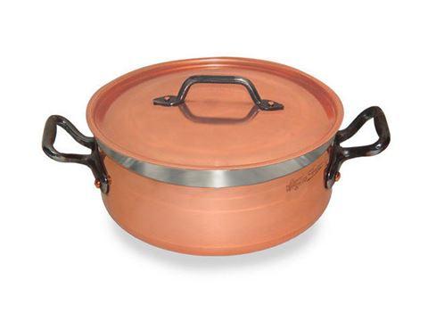 French Copper Studio Short Copper Casserole