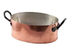 Picture of French Copper Studio Smooth Copper Dutch Oven Oval Roaster