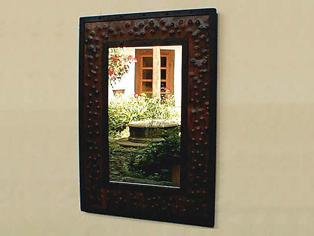 Picture of Extra Large Rectangular Hammered Metal Mirror