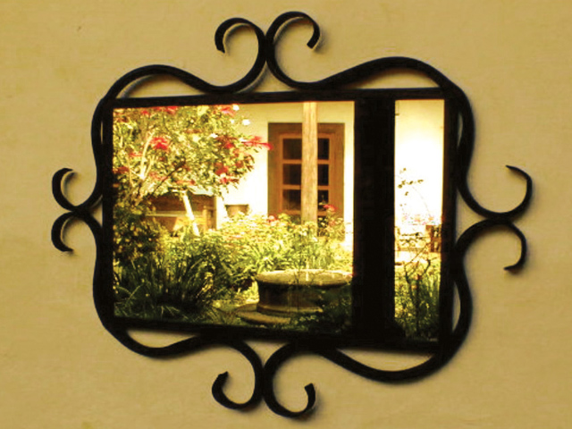 Picture of Wrought Iron Mirror Frame with Curved Details