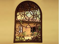 Decorative Wrought Iron Mirror Frame