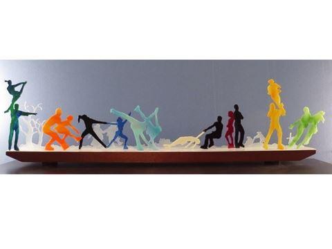 Pas de Deux on Ice Glasscape LIghting Sculpture