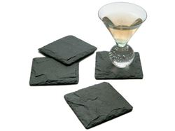 JK Adams Charcoal Slate Coasters Set of 4