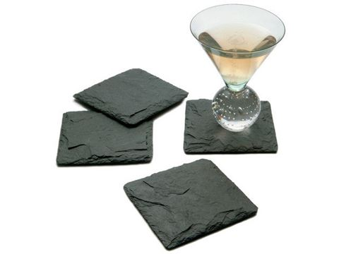 JK Adams Charcoal Slate Coasters Set of 4
