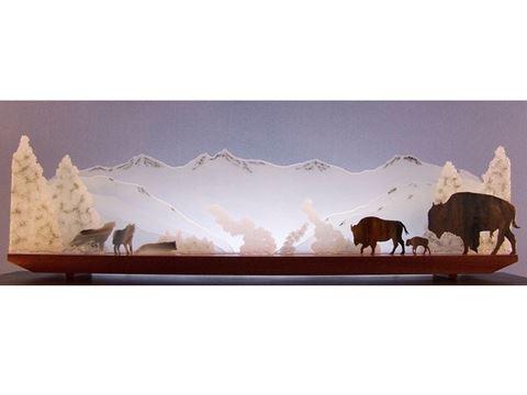 Yellowstone Standoff Glasscape Lighting Sculpture