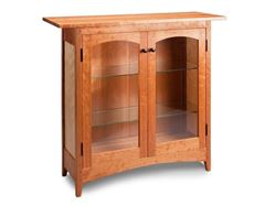 Picture of Cherry and Birch Display Cabinet