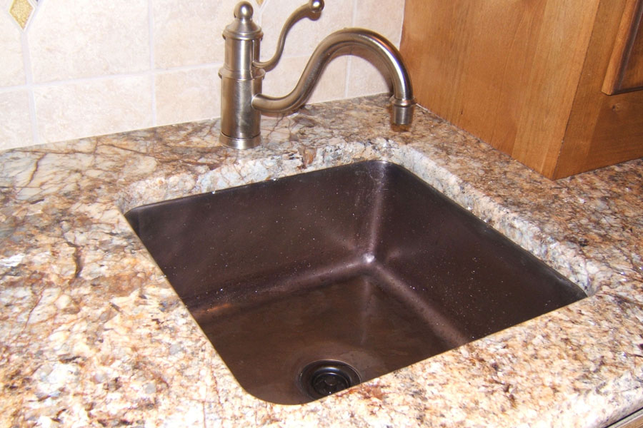 """Picture of 18"""" Square Bronze Bar Sink"""