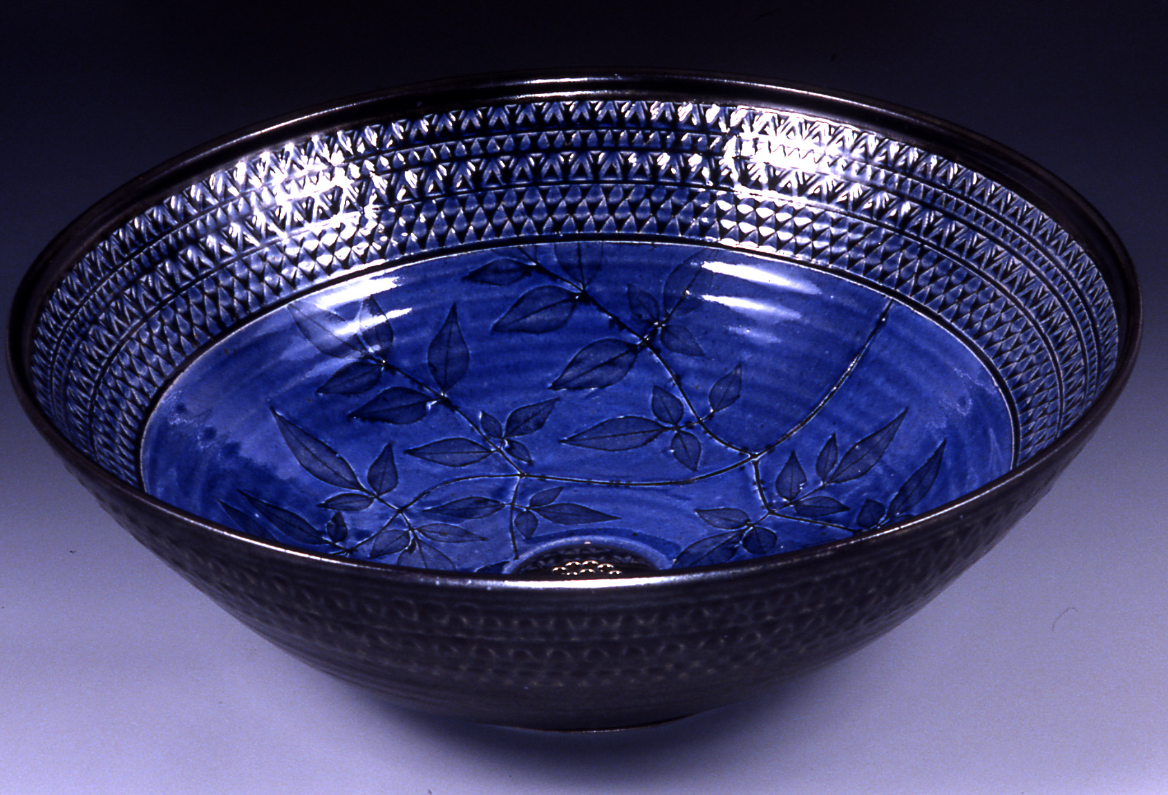 Picture of Blue Earthenware Sink