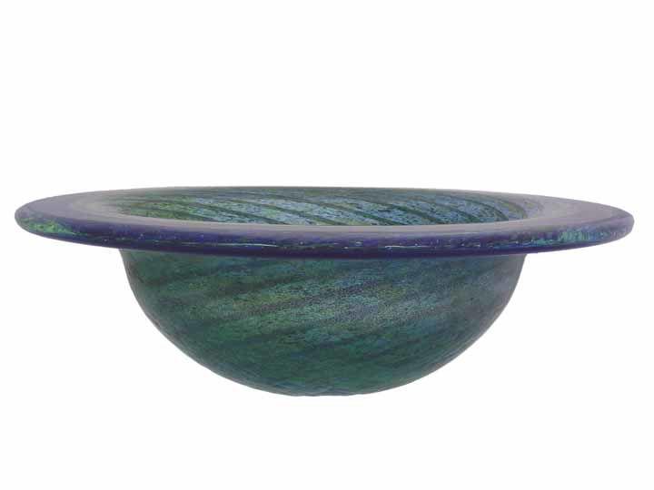 Blown Glass Sink | Blue-Green Optic Twist