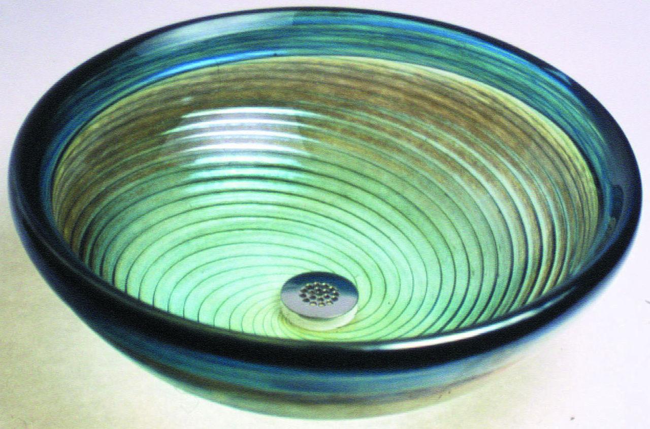 Blown Glass Sink | Caribbean Twist
