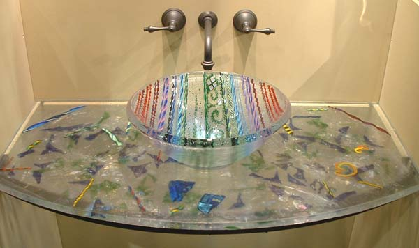 Picture of Clear Tapestry Vessel Sink