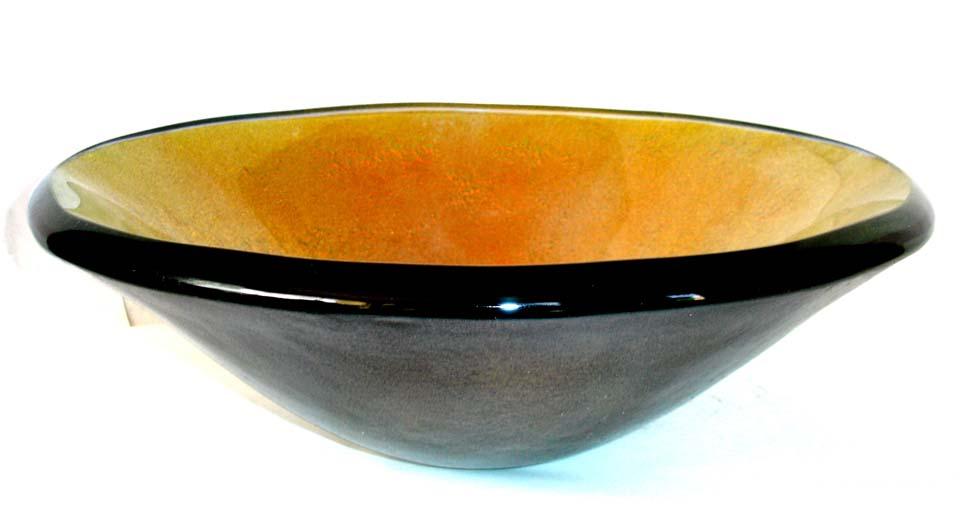 Picture of Fuoco Vibrente Round Glass Vessel Sink