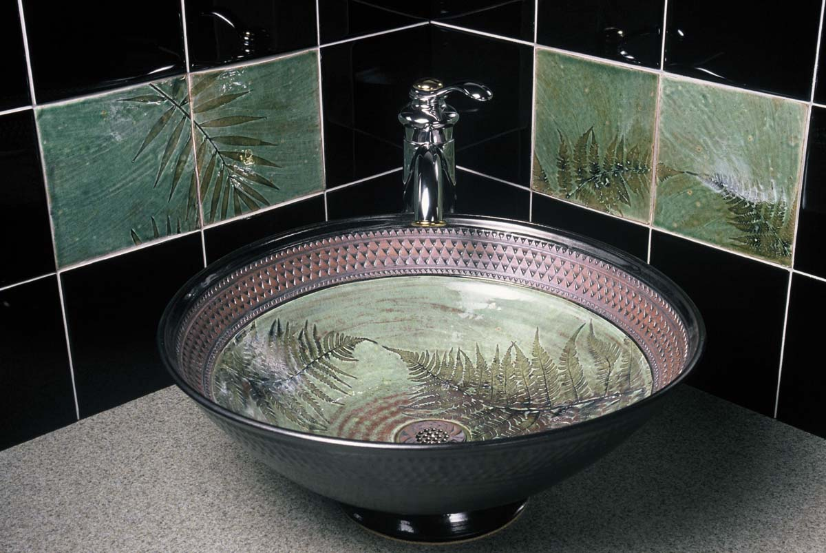 Picture of Green Celadon Sink