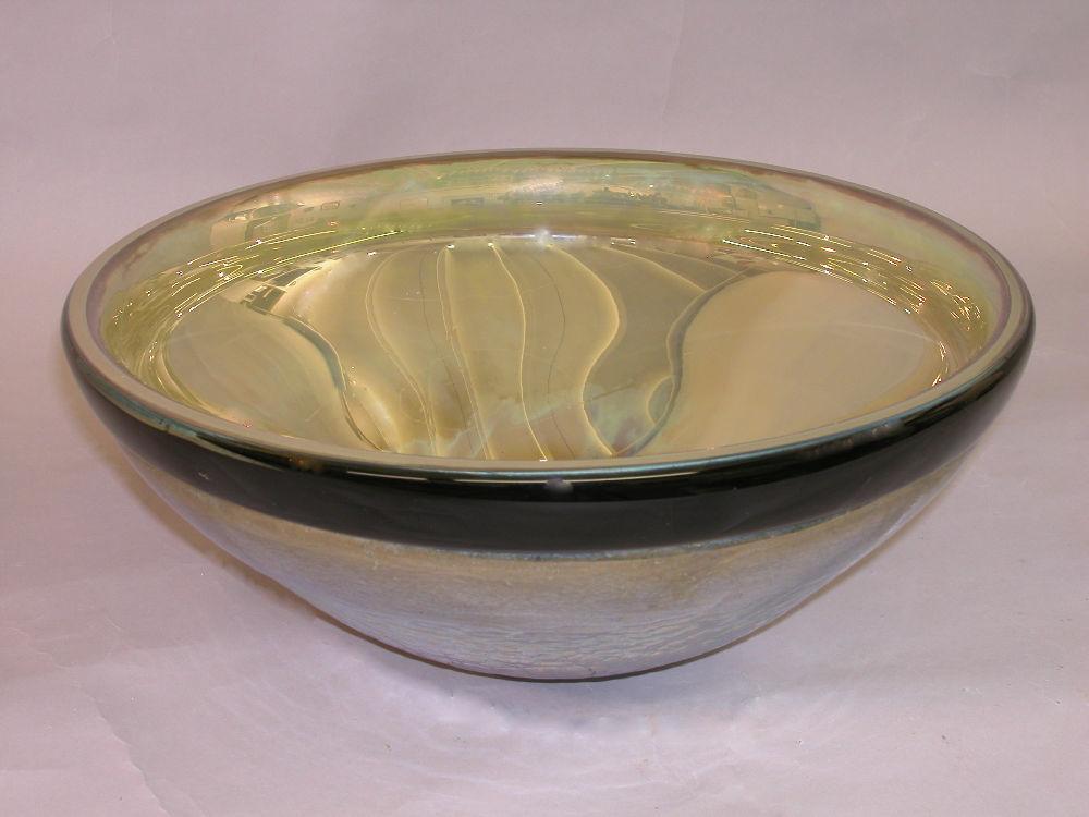 Blown Glass Sink   Iris Gold Mercury