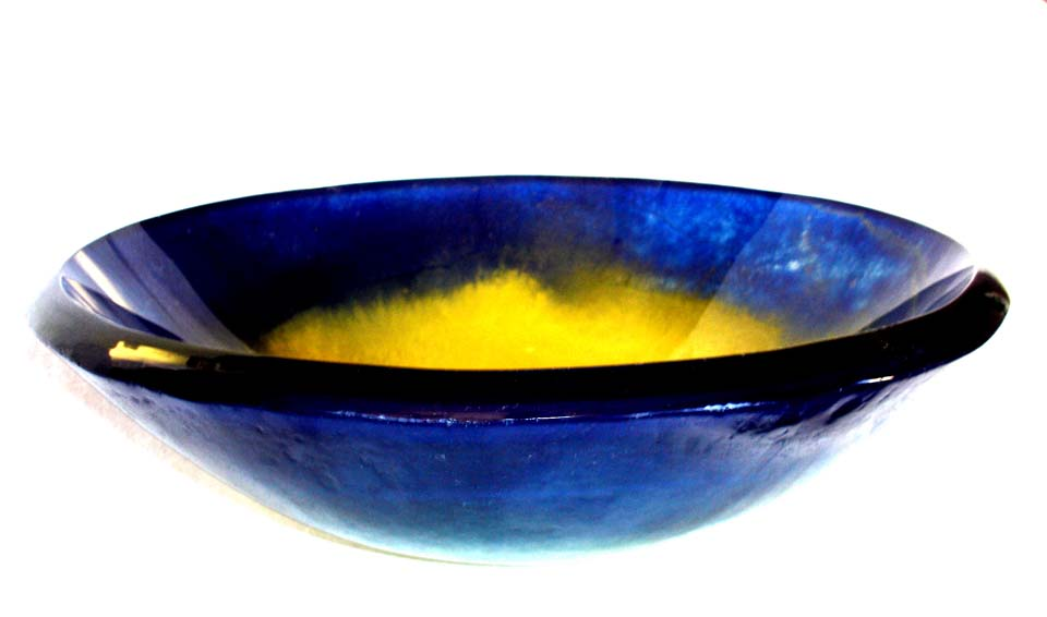 Picture of Oceanus I Round Glass Vessel Sink