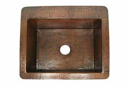 """Picture of 25"""" Copper Bar Sink by SoLuna"""
