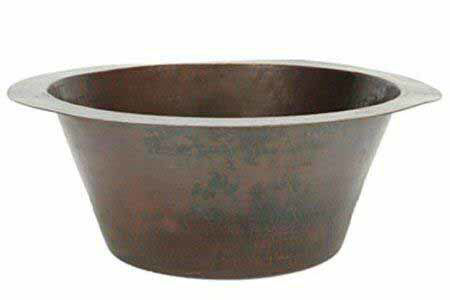 """Picture of 19"""" Jumbo Round Copper Prep Sink by SoLuna"""