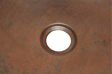 """Picture of 20"""" Copper Bar Sink - D-Shape by SoLuna"""