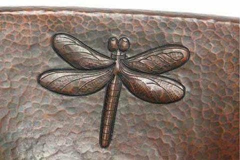 """19"""" Oval Copper Bathroom Sink - Dragonfly by SoLuna"""