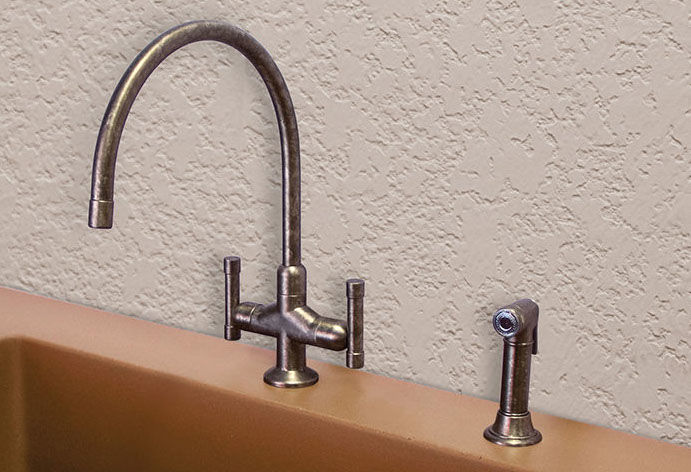 Picture of Sonoma Forge   Kitchen Faucet   Cuvee Extended Spout   Deck Mount