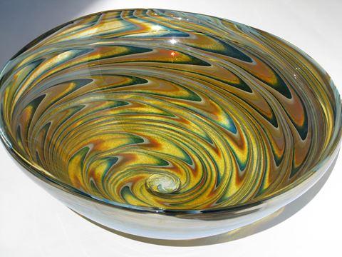 """20"""" Large Light Amber Vortex Vessel Sink"""