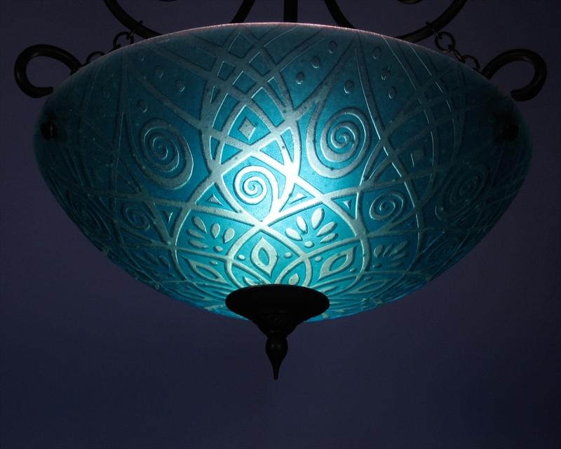 Picture of Pendant Light   Ocean Aqua
