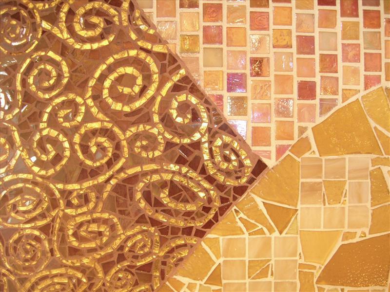 Picture of Klimt Glass Tiled Backsplash
