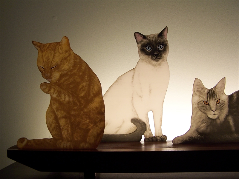 Picture of Mere Cats Glasscape Lighting Sculpture