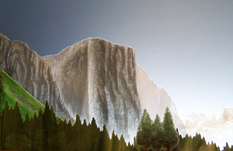 Picture of Yosemite Valley Glasscape Lighting Sculpture