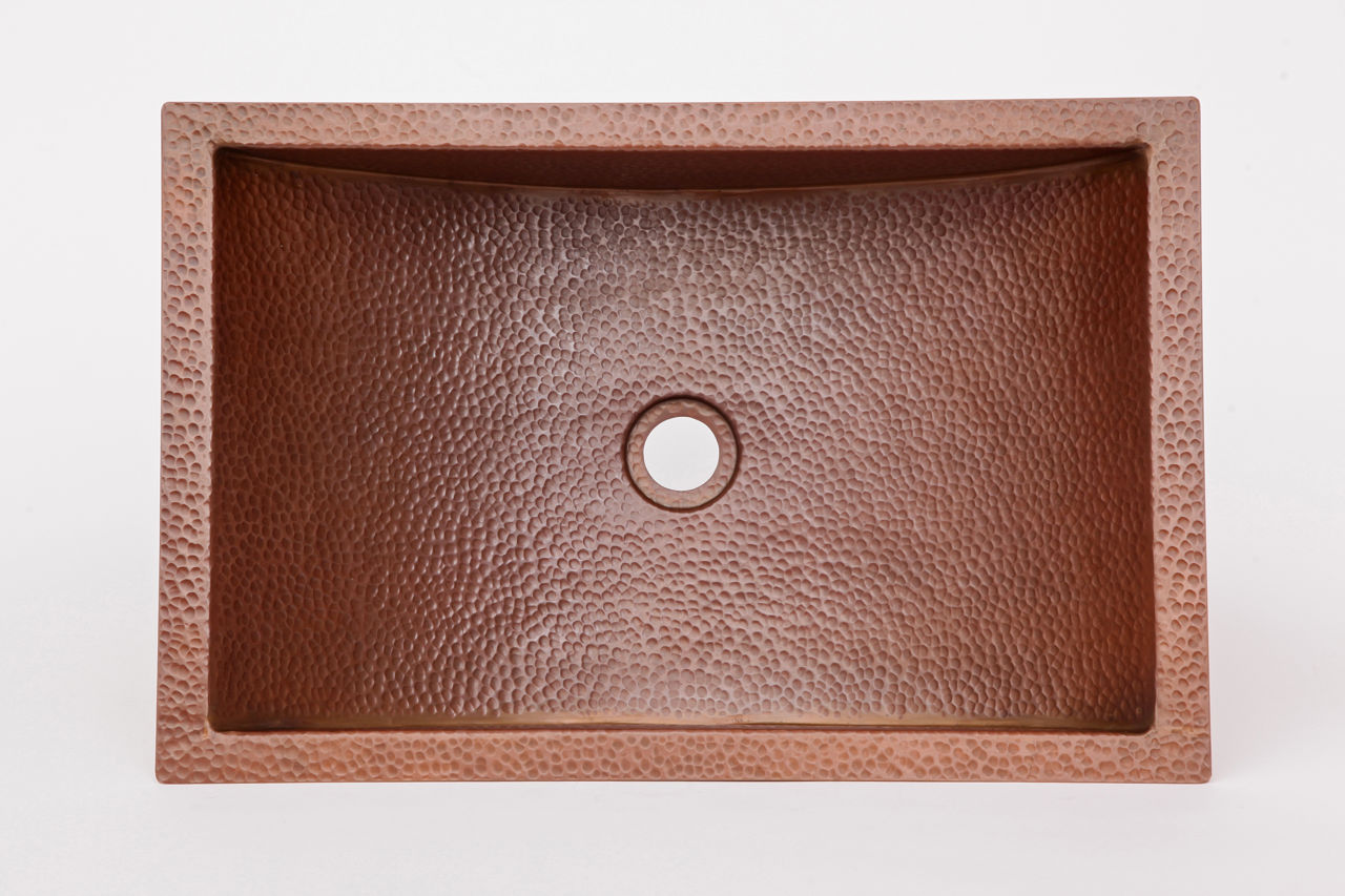 "Picture of 20.5"" Trough Copper Bathroom Sink by SoLuna"