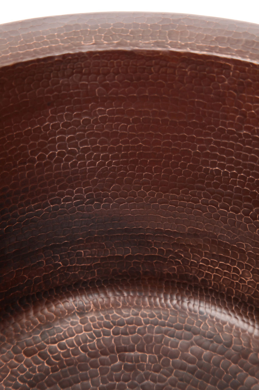 """Picture of 16"""" Rimmed Round Copper Prep Sink by SoLuna"""