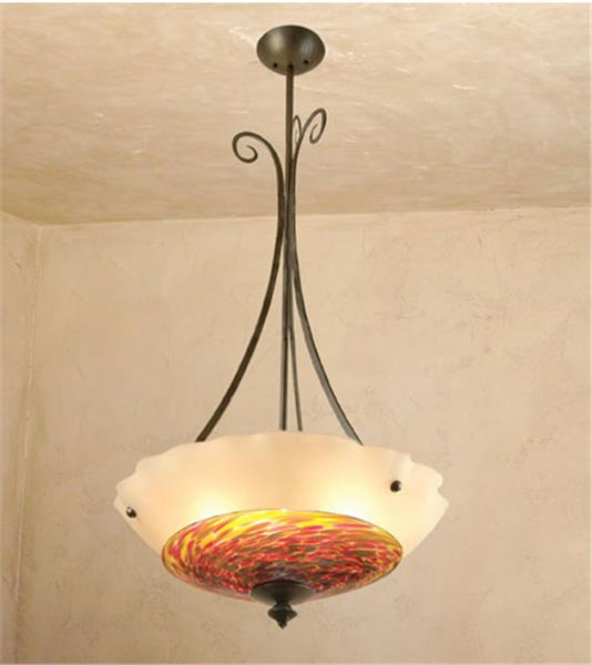 Picture of Plume II Blown Glass and Forged Iron Chandelier