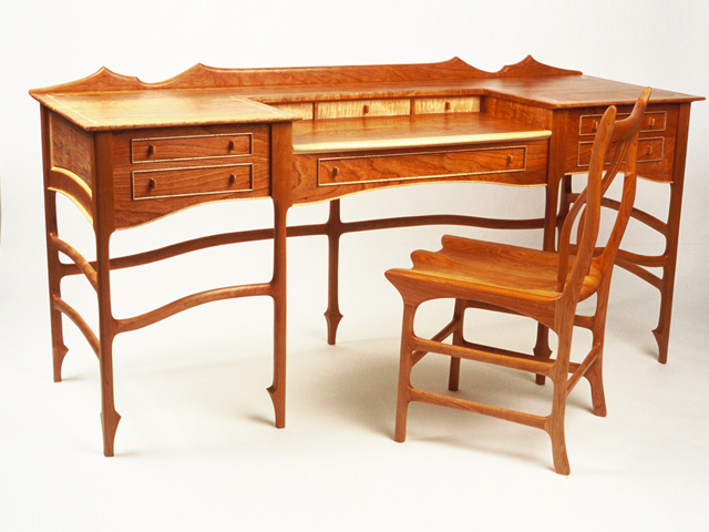 Picture of Birdseye Maple Desk and Chair