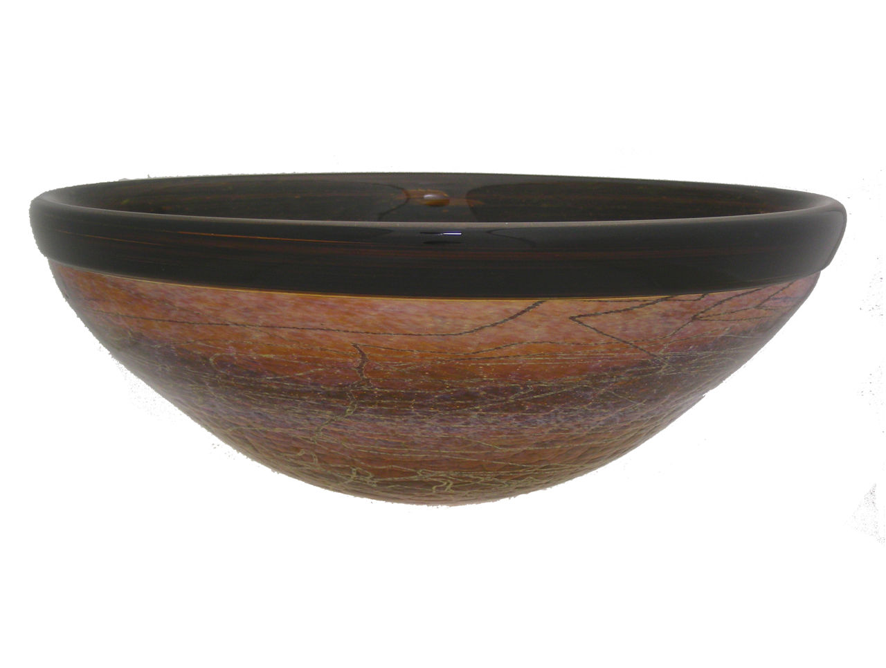 Picture of Blown Glass Sink | Honey Drop Stringer Classic