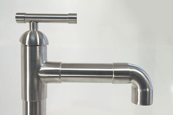 Picture of Sonoma Forge | Bathroom Faucet | Brut Elbow Spout | Deck Mount