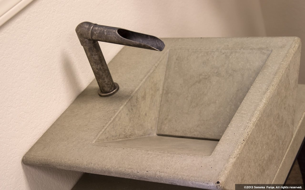 Picture of Sonoma Forge | Bathroom Faucet | Waterfall Spout | Deck Mount | Hands Free