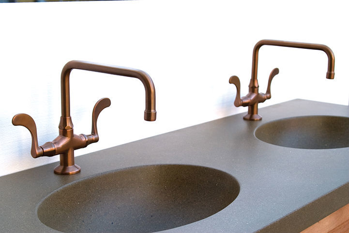 Picture of Sonoma Forge | Bathroom Faucet | Wingnut Fixed Spout | Deck Mount