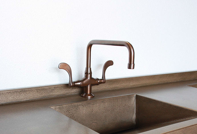 Picture of Sonoma Forge | Bar or Prep Faucet | Wingnut Square Spout | Deck Mount