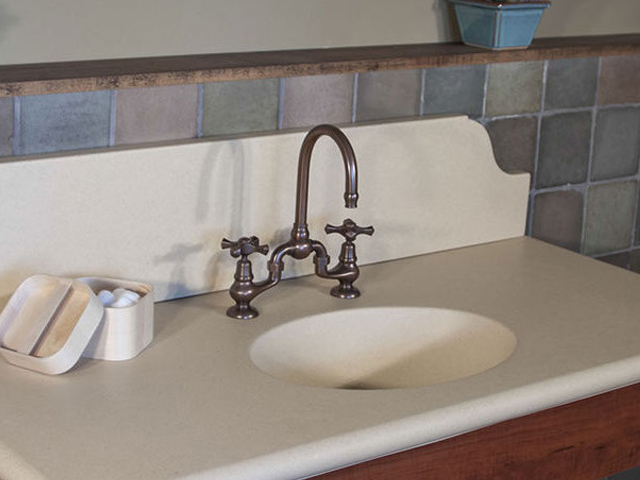 Picture of Sonoma Forge | Bathroom Faucet | Brownstone Gooseneck | Deck Mount
